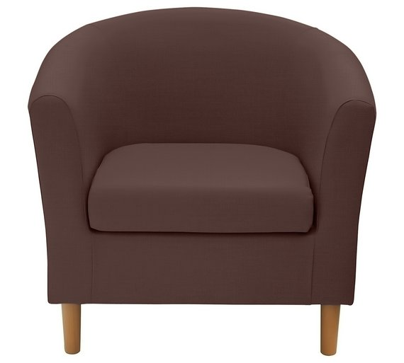 buy argos home fabric tub chair brown armchairs and chairs argos