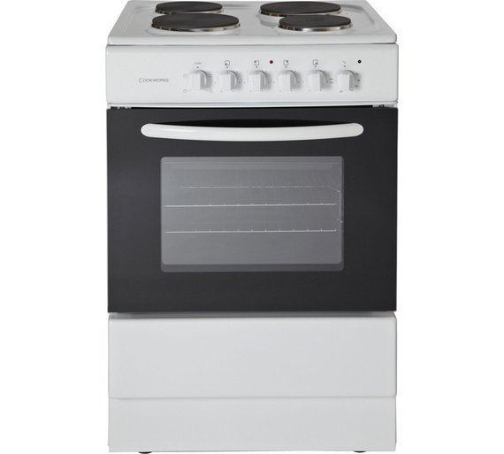 buy cookworks ces60w single electric cooker white at argos co uk loading