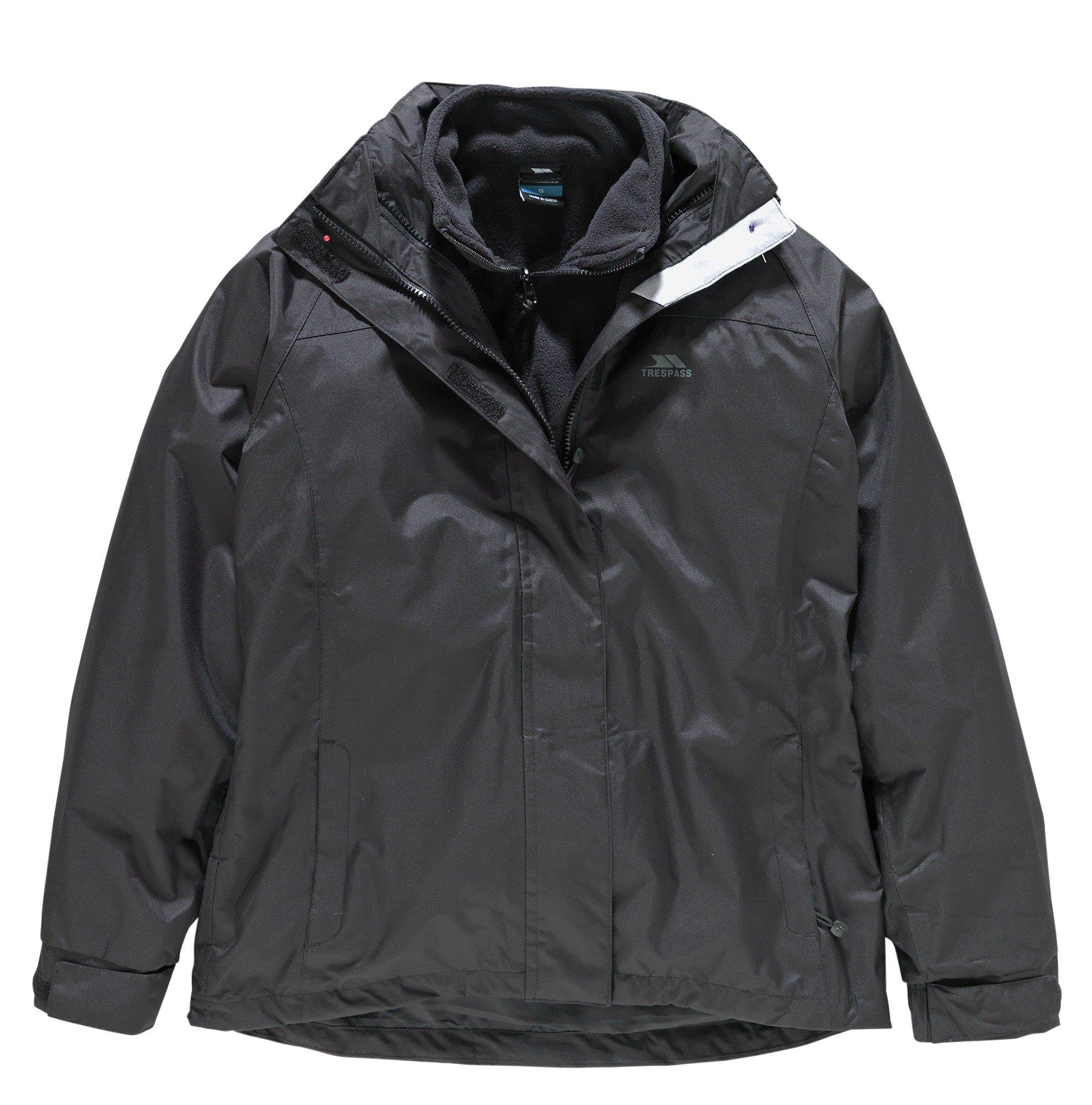 Image of Trespass Black 3 in 1 Jacket - Extra Large