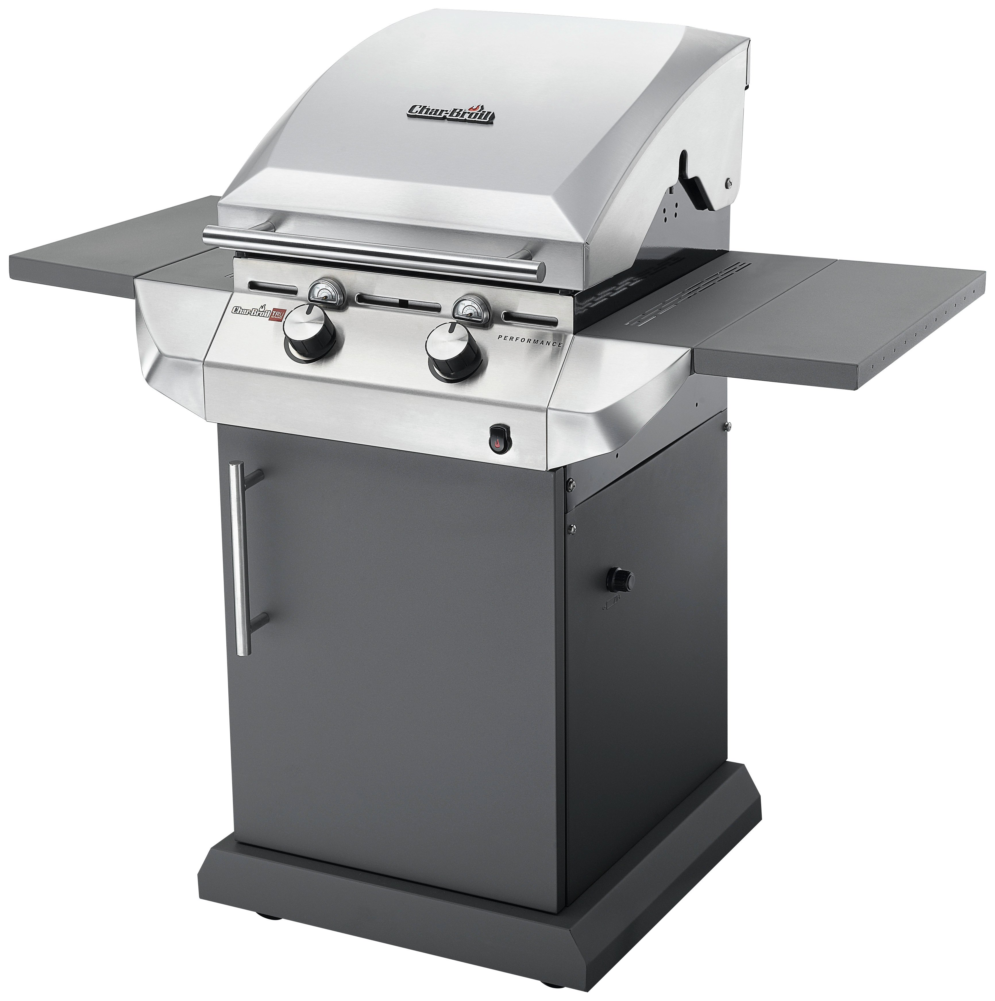 Char-Broil T22G - 2 Burner Gas BBQ Grill, Stainless Steel