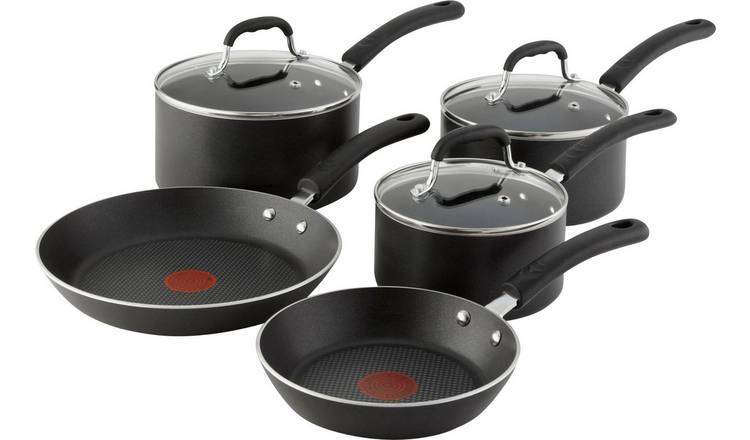 Tefal 5 Piece Non Stick Aluminium Induction Pan Set