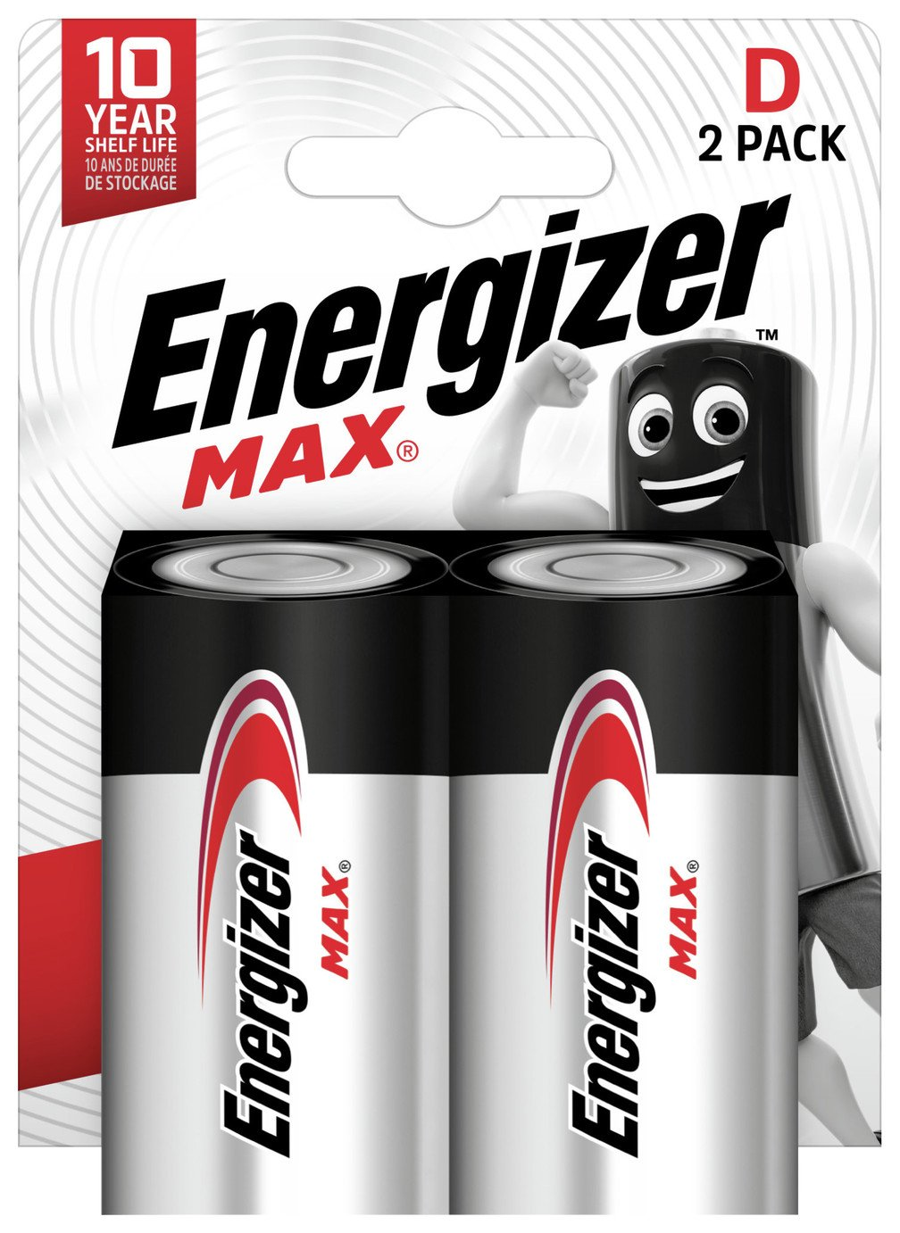 Energizer Max D Batteries - Pack of 2