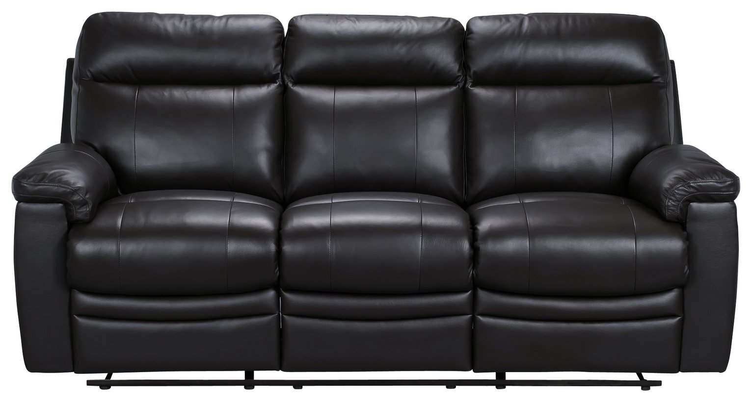Argos Home Paolo 3 Seater Manual Recliner Sofa - Black