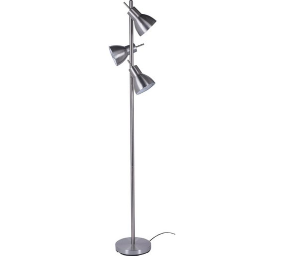 Buy argos home fraser trio spotlight floor lamp silver floor argos home fraser trio spotlight floor lamp silver aloadofball Choice Image