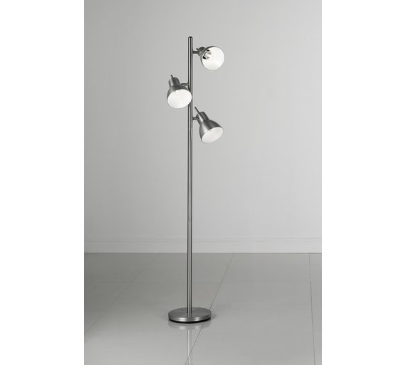 Buy argos home fraser trio spotlight floor lamp silver floor click to zoom aloadofball Choice Image