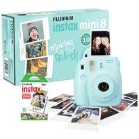 Fujifilm Instax Mini 8 Instant Camera with 10 Shots - Blue.