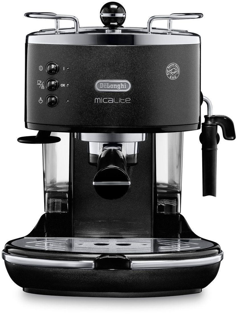 de 39 longhi micalite espresso coffee machine black. Black Bedroom Furniture Sets. Home Design Ideas