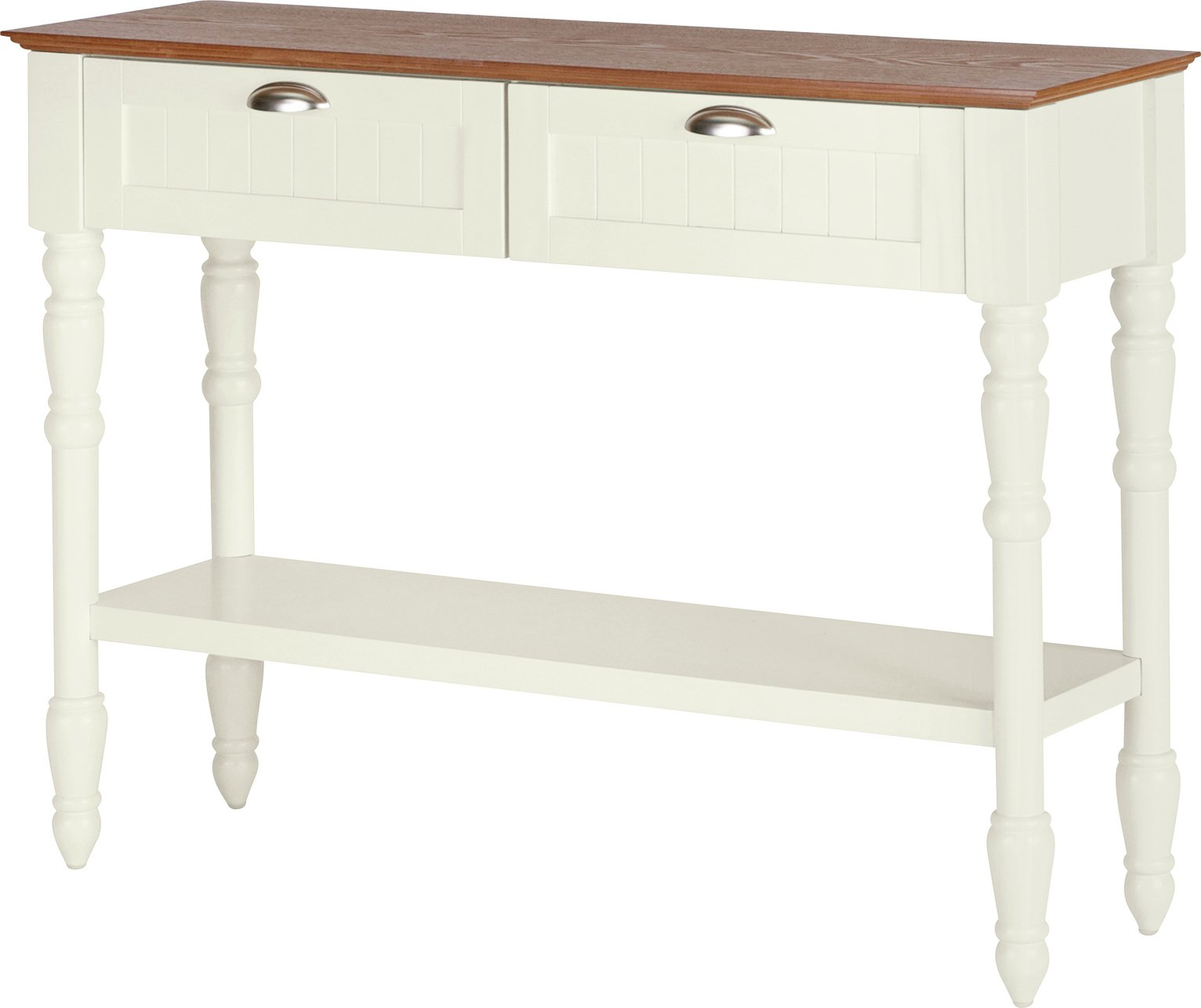 Argos Home Addington 2 Drw 1 Shelf Console Table - Two Tone