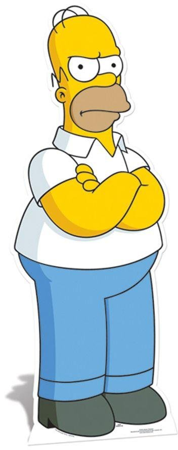 The Simpsons Homer Simpson Life-Sized Cutout.