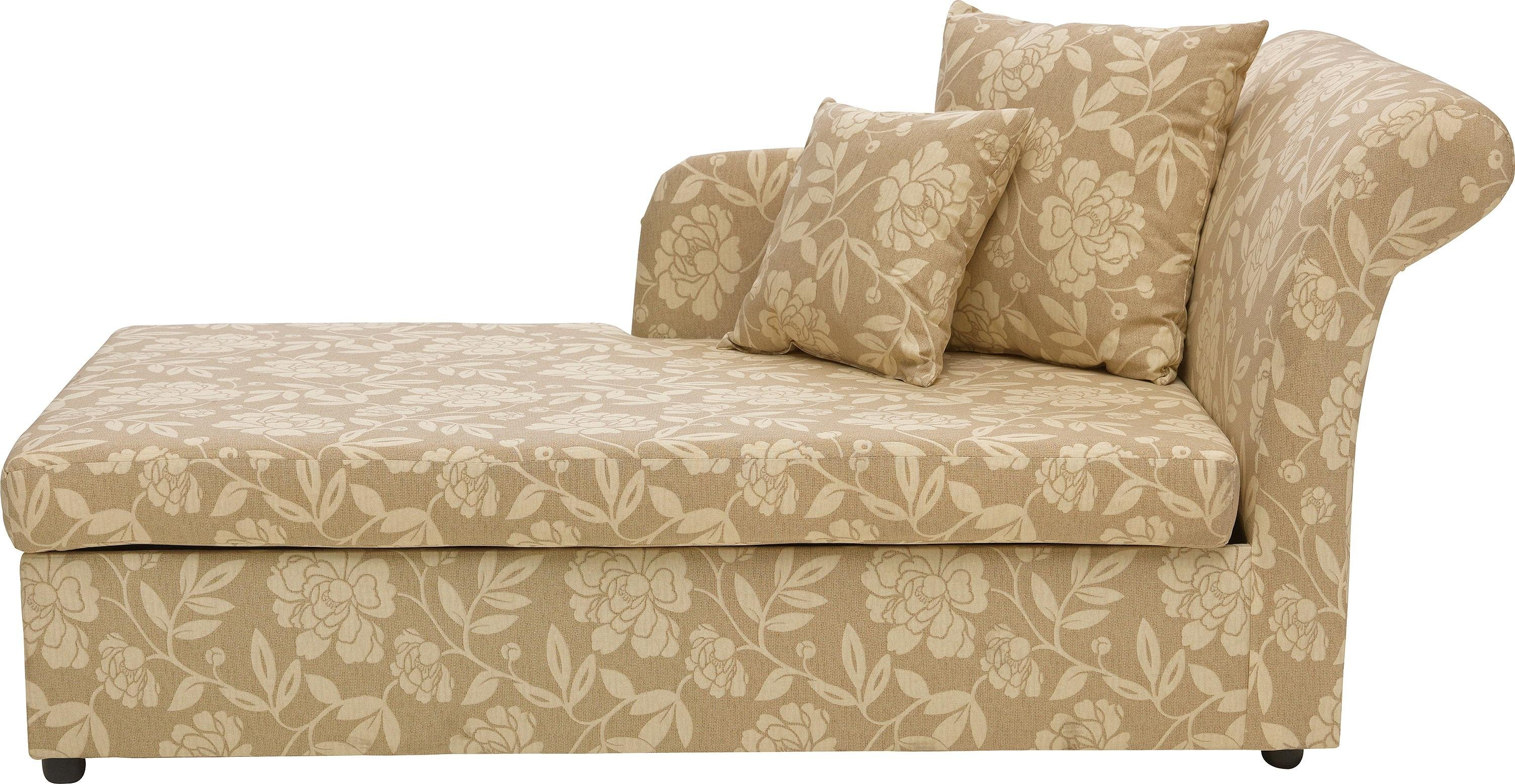 Home Floral 2 Seater Fabric Chaise Longue Sofa Bed - Natural  sc 1 st  Argos : argos chaise lounge - Sectionals, Sofas & Couches
