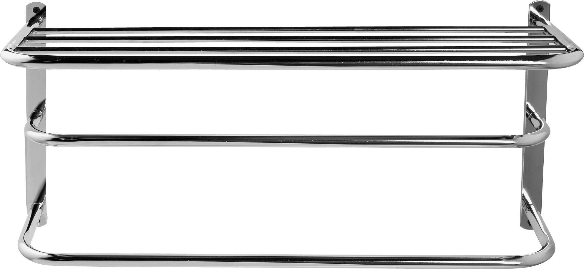 Buy HOME Wall Mounted Towel Rail with Shelf Metal Towel rails