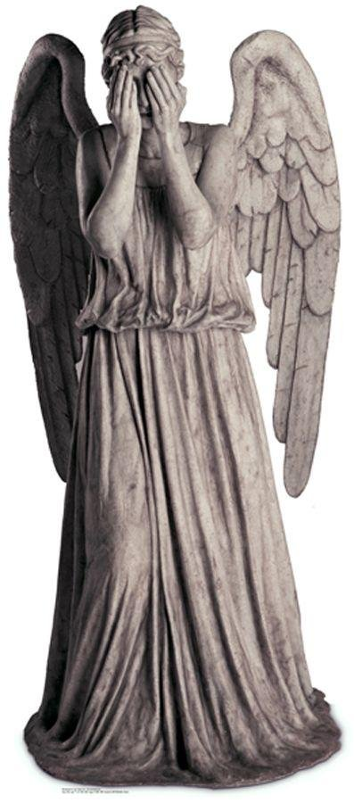 Image of Doctor Who Weeping Blink Angel Life-Sized Cutout.