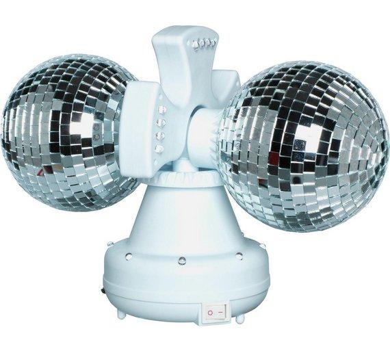 Buy Twin Rotating Double Disco Ball Lamp At Argos Co Uk