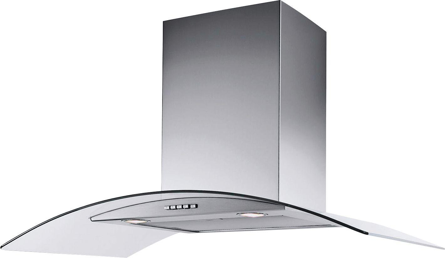60cm Curved Chimney - Cooker Hood - Stainless Steel