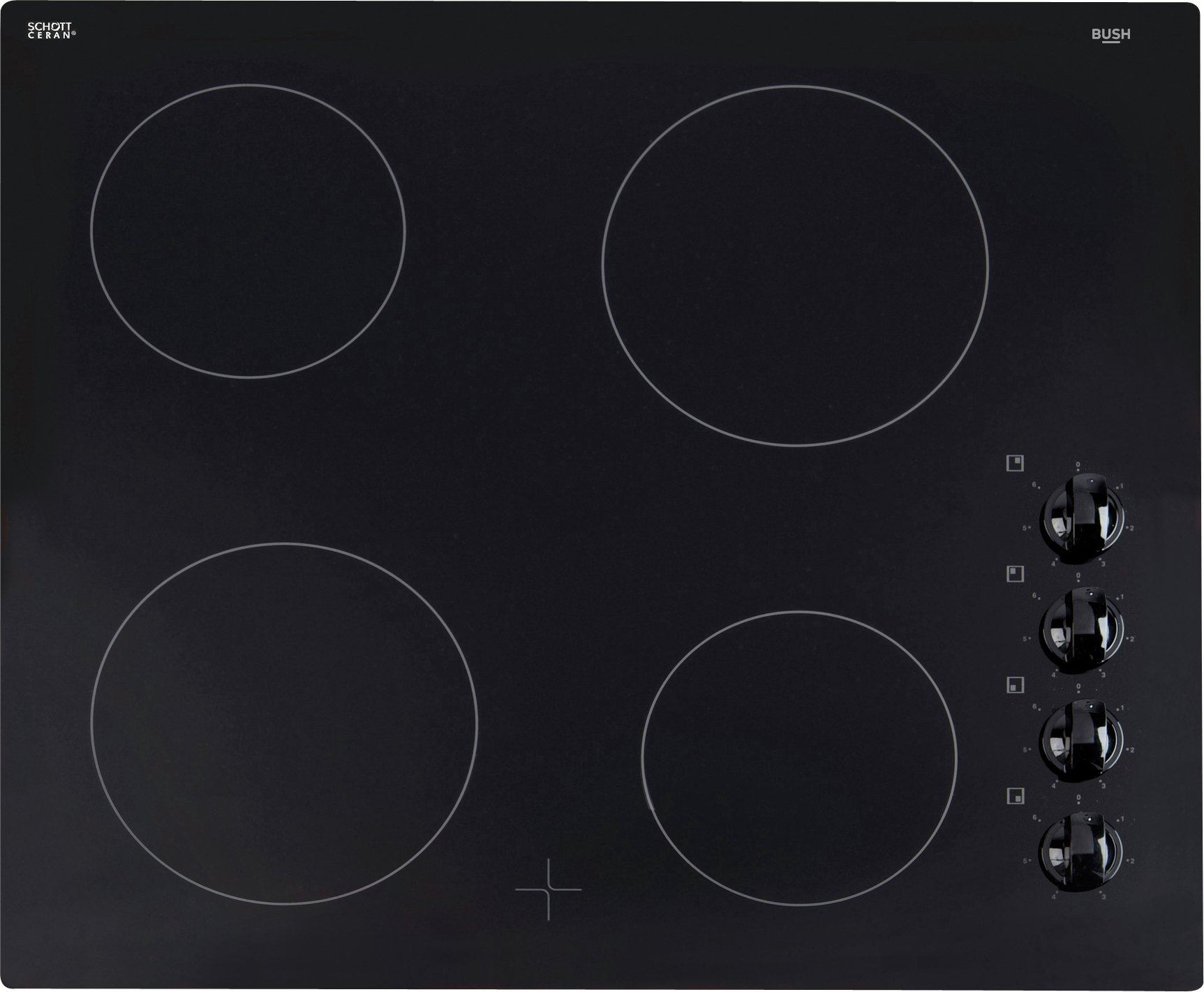 Bush - A60CK - Ceramic Electric Hob - Black