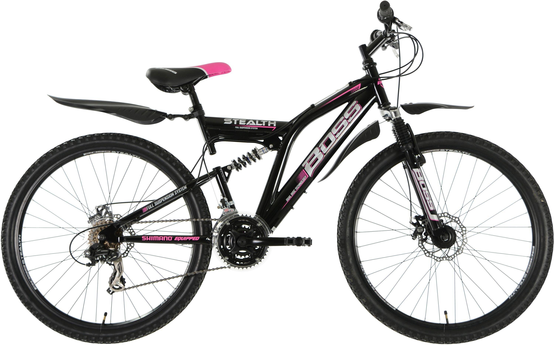 Image of Boss - Stealth - 26 Inch Steel FS Mountain Bike - Ladies'