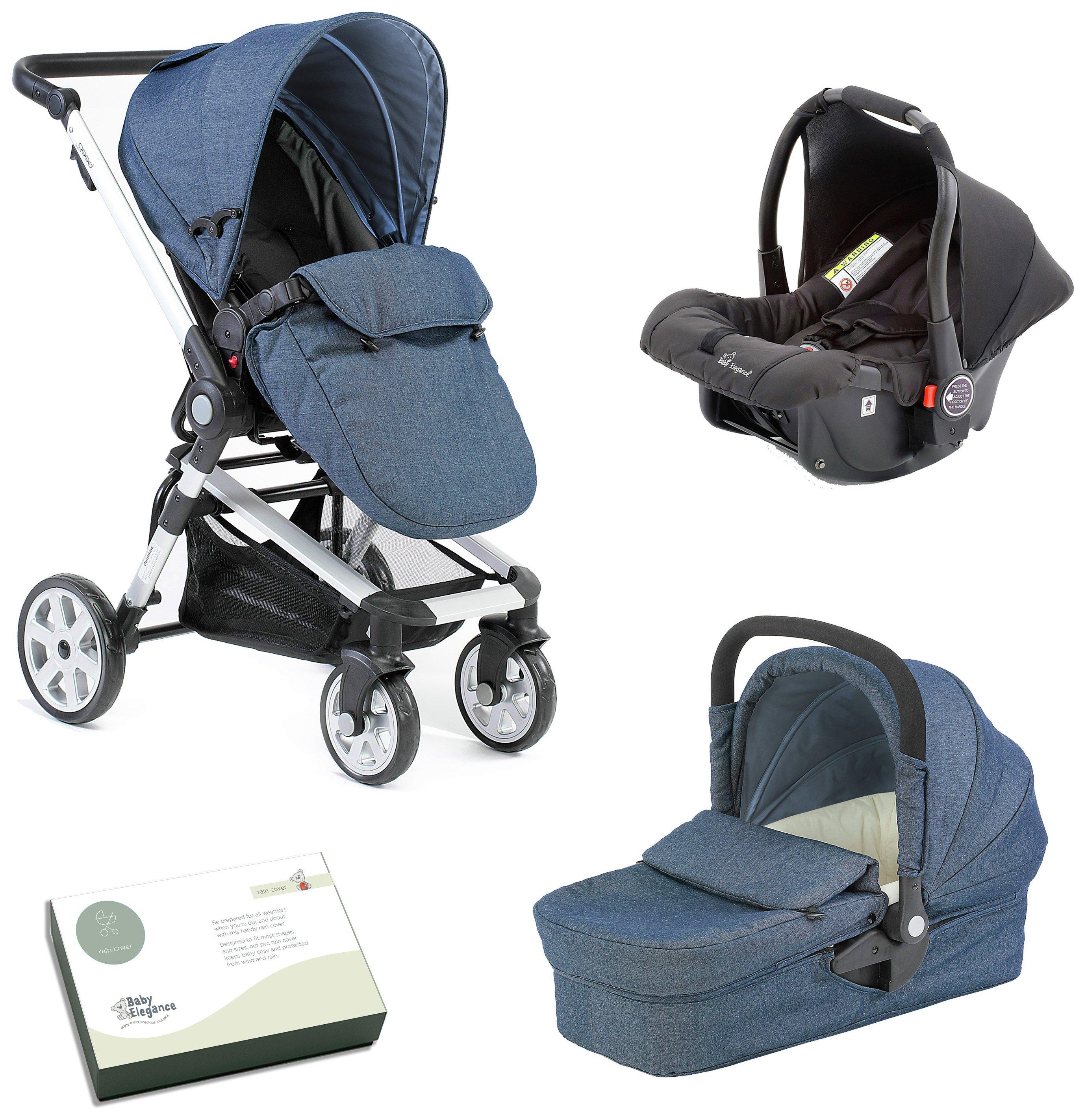 Image of Baby Elegance Beep Twist Travel System - Denim.
