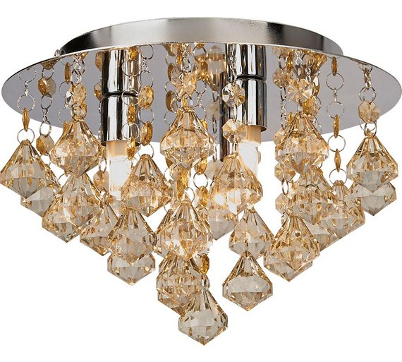 Ceiling Lights Argos: HOME Eve 3 Light Ceiling Fitting - Champagne239/9142,Lighting