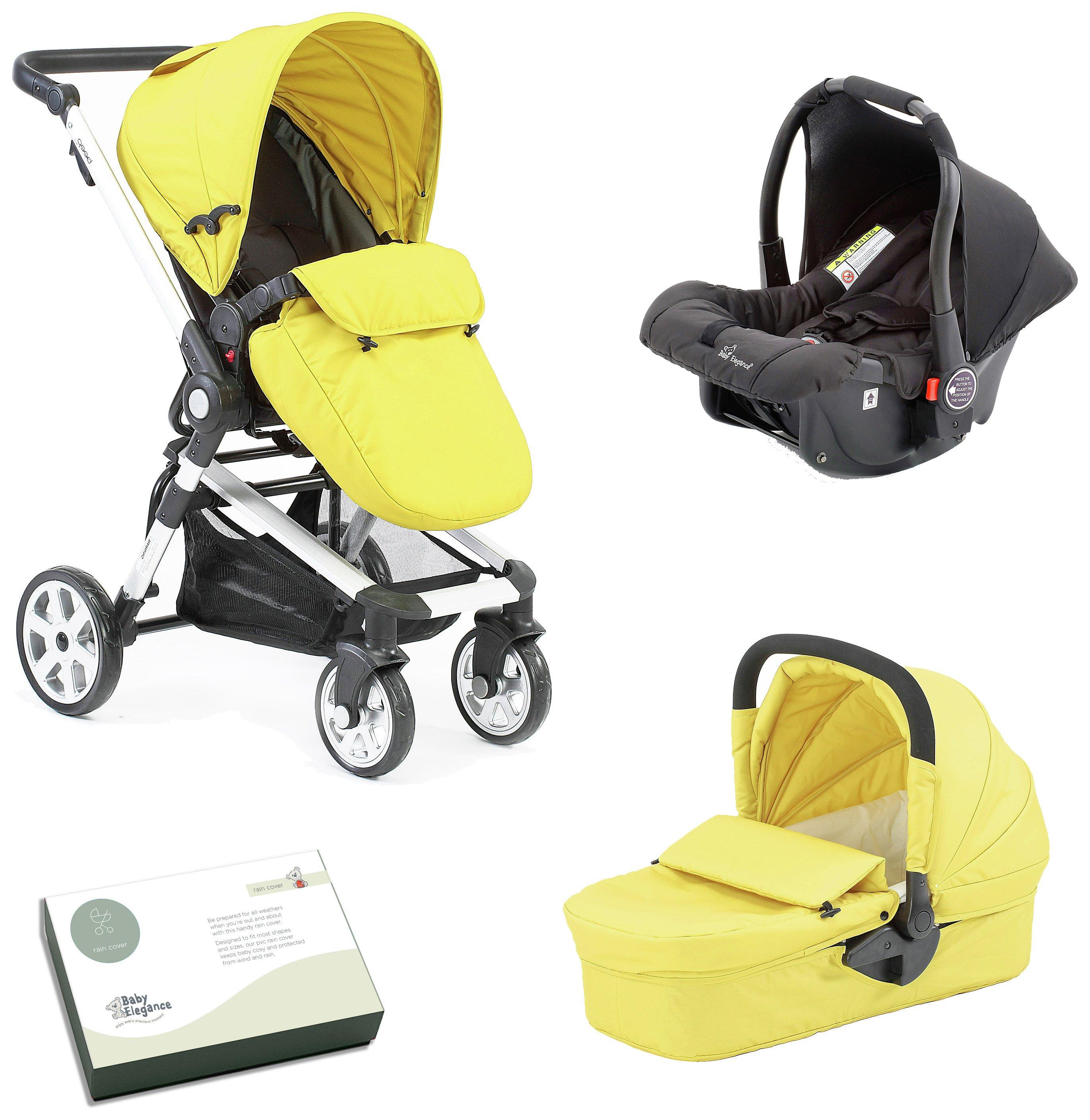 Image of Baby Elegance Beep Twist Travel System - Citrus.