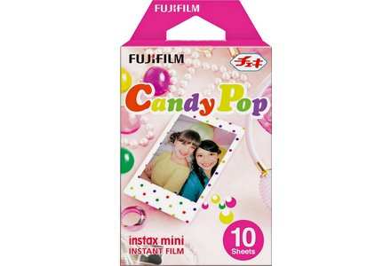 Cur out image of the FujiFilm Mini Deco Instant Film in Candypop print.