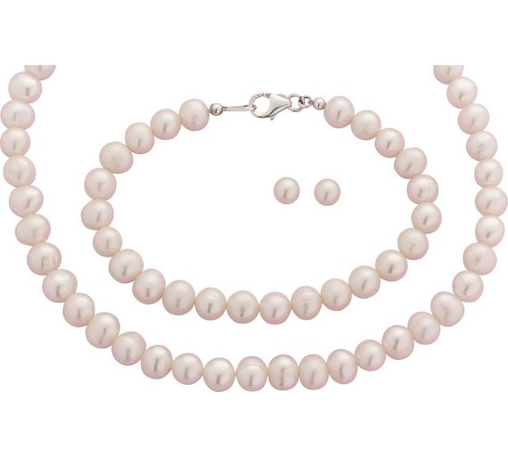 Buy Revere Sterling Silver and Freshwater Pearl Jewellery Set ... 277312022