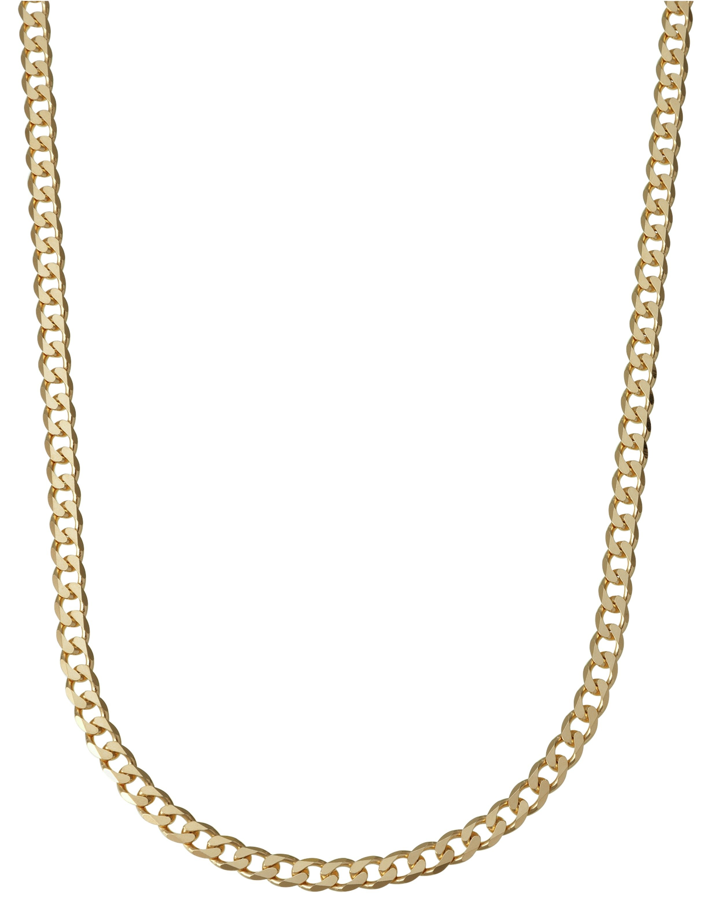 9ct Gold Love Pendant with 9ct Gold diamond cut curb chain