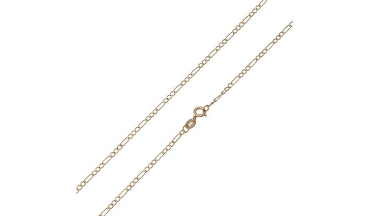 Revere 9ct Yellow Gold 3-in-1 Figaro 20 Inch Chain