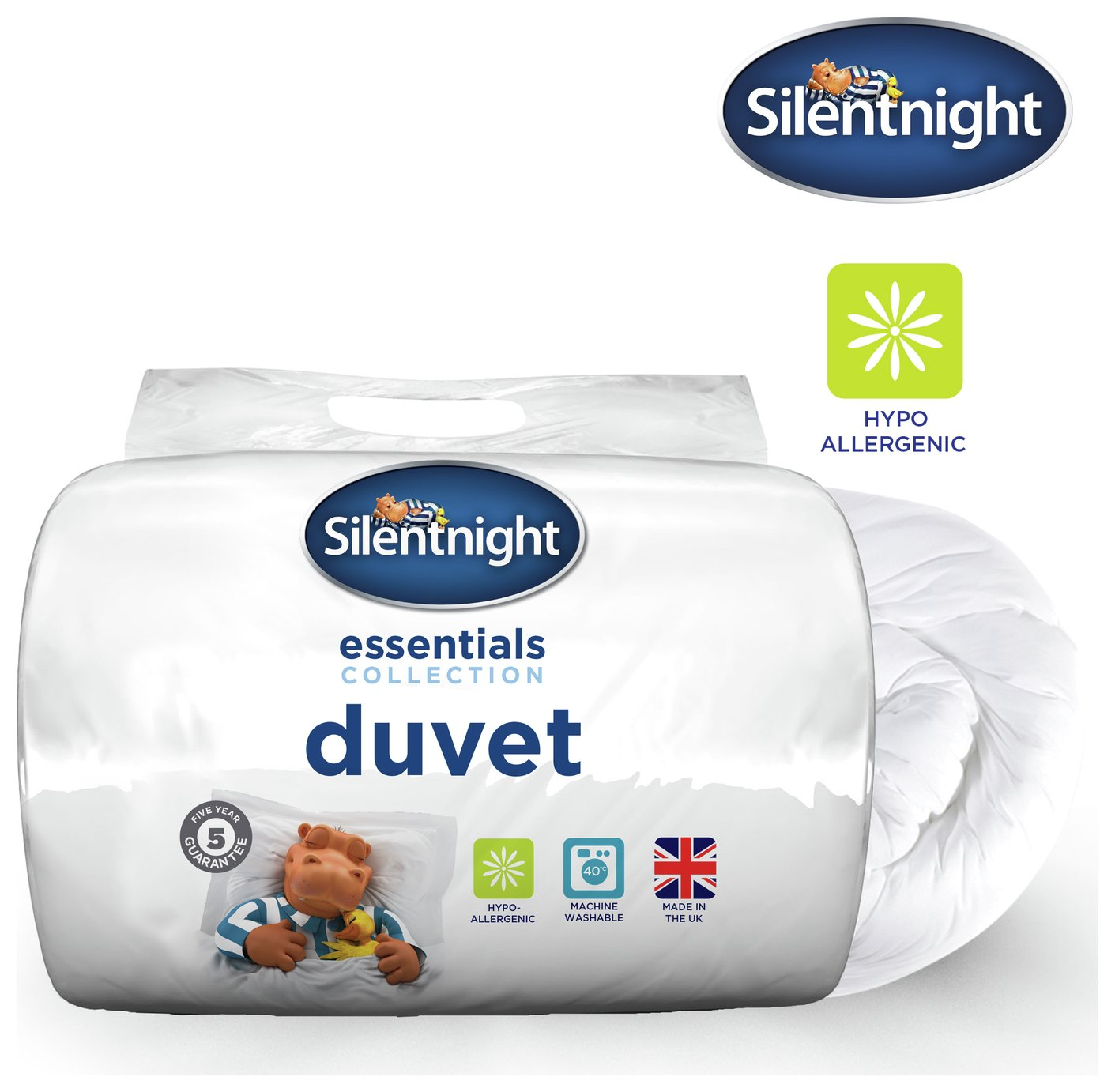 silentnight  essentials 135 tog  duvet  double