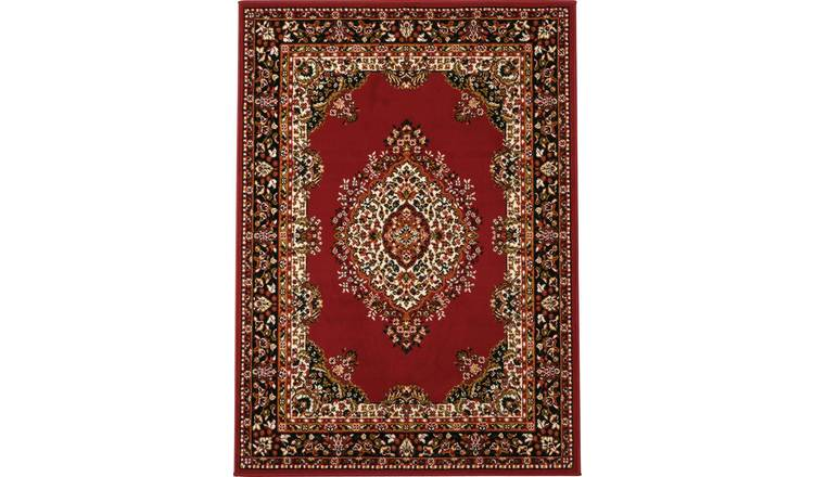 Argos Home Bukhura Traditional Rug - 160x120cm - Red