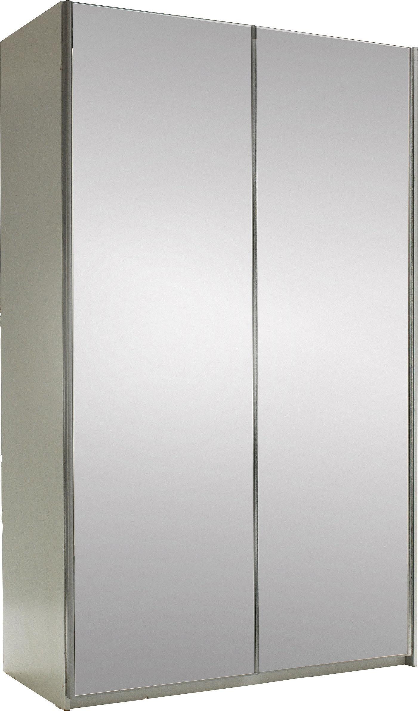 Argos Home Bergen White 2Dr Medium Mirrored Sliding Wardrobe