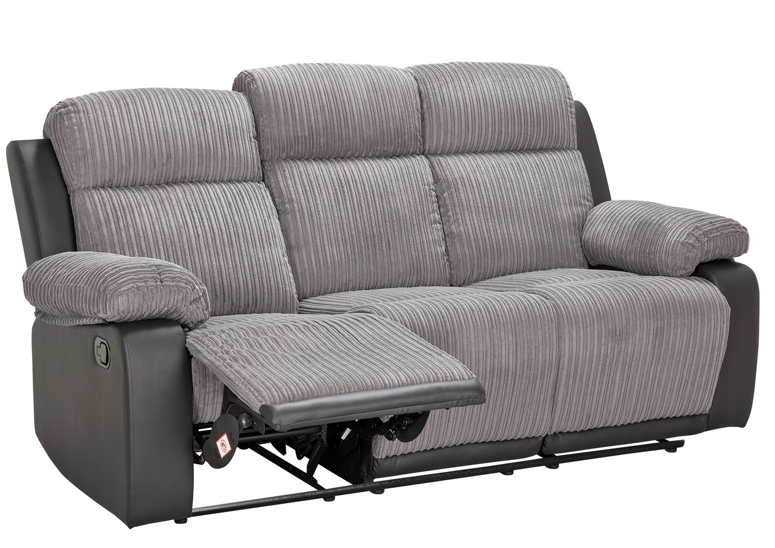 Argos Home Bradley 3 Seater Fabric Recliner Sofa - Charcoal
