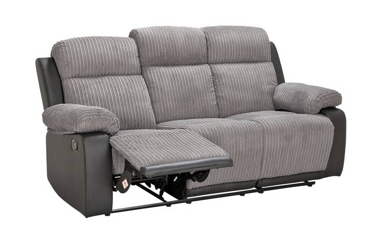Argos Home Bradley Chair & 3 Seater Recliner Sofa - Charcoal