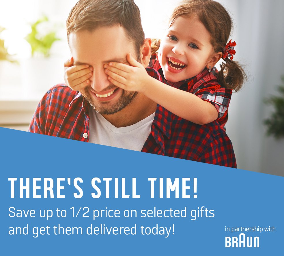 There's still time! Save up to 1/2 price on selected gifts and get them delivered today!