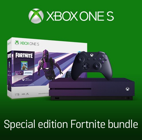 Xbox One S Special edition Fortnite bundle.
