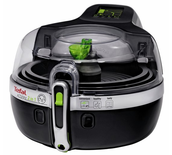 buy tefal yv960140 actifry 2 in 1 1 5kg fryer black fryers argos