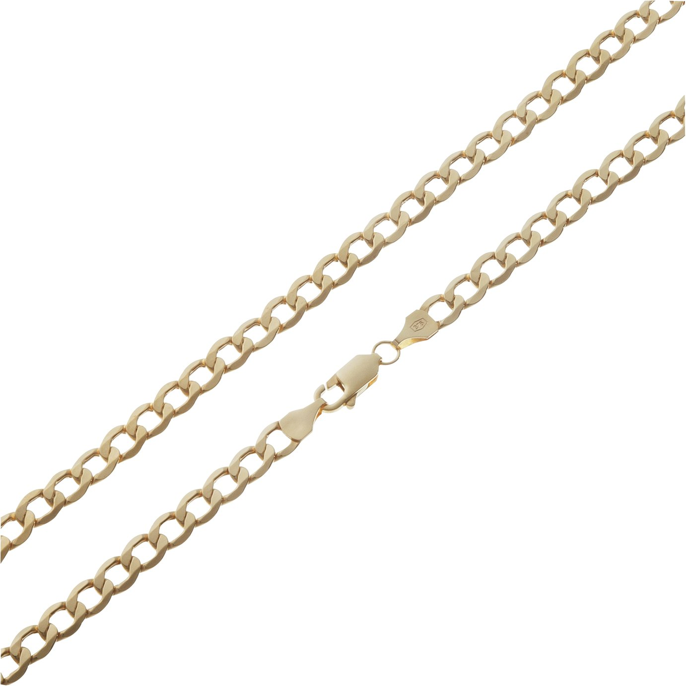 Sale On Revere 9ct Gold Plated Sterling Silver Solid Curb