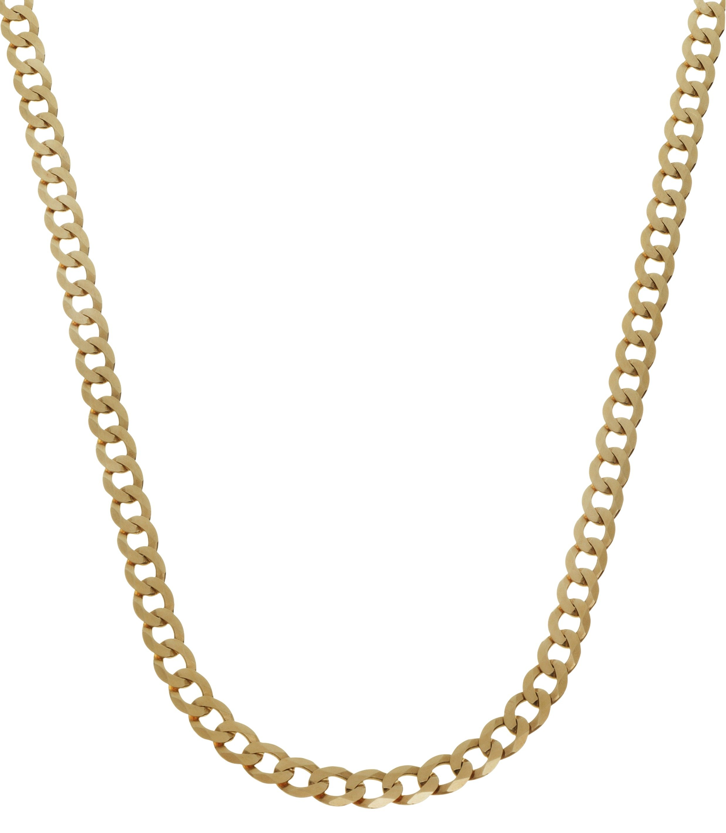 Review Of 9ct Gold Plated Silver Curb Chain