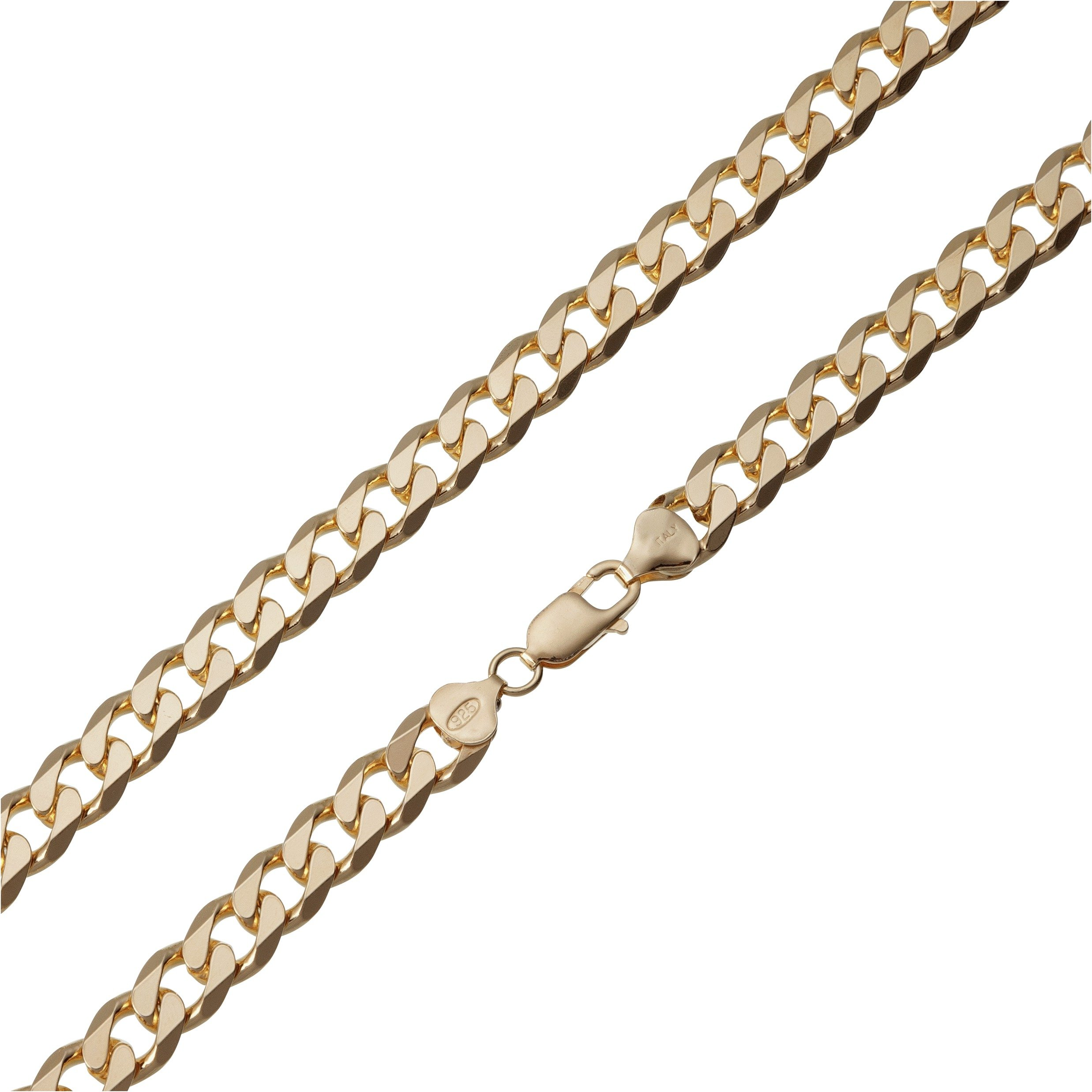Revere 9ct Gold Plated Sterling Silver Curb 20 Inch Chain