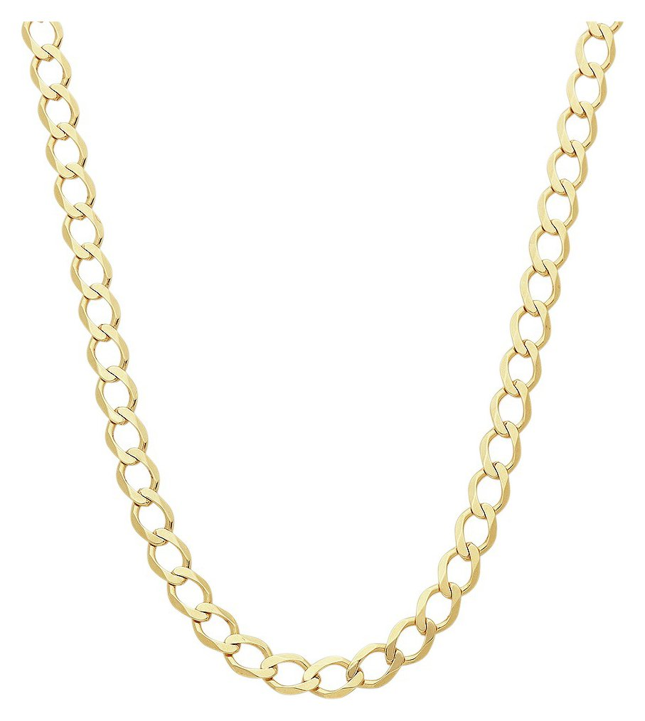 Revere 9ct Yellow Gold 20 Inch Solid Curb Chain review