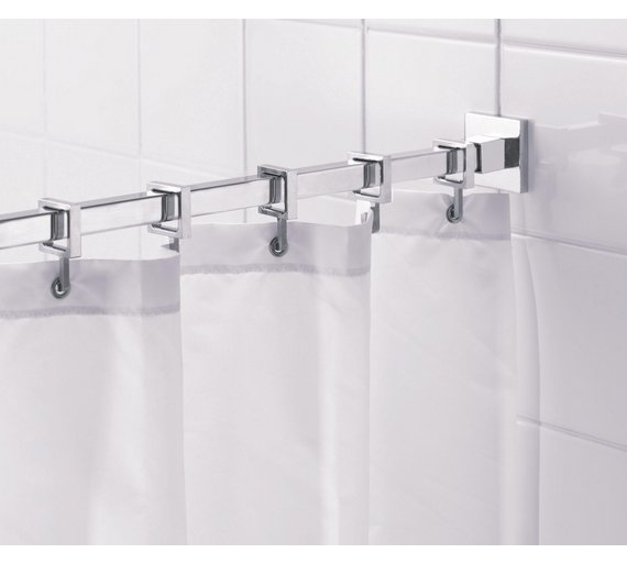 Buy Croydex Square Shower Curtain Rod And Rings Chrome At Your Online Shop For