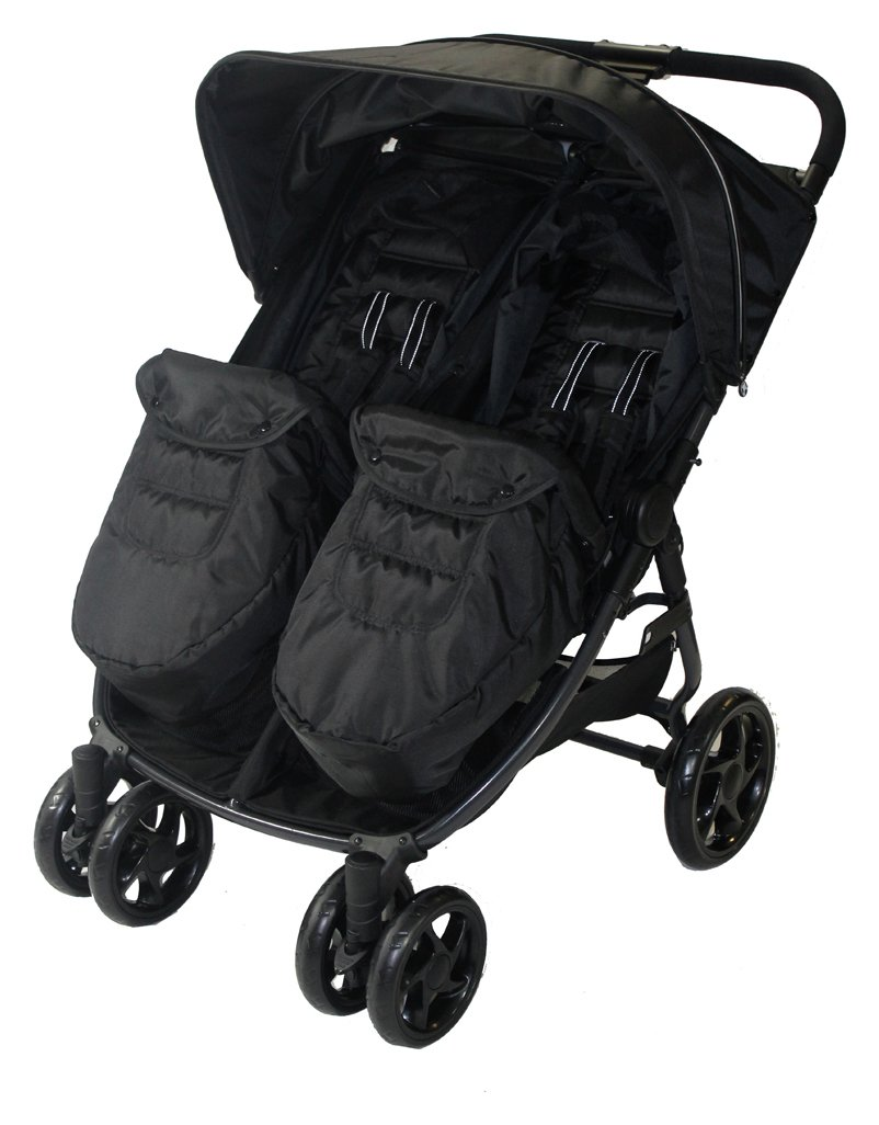 Red Kite Push Me Double Pushchair - Carbon