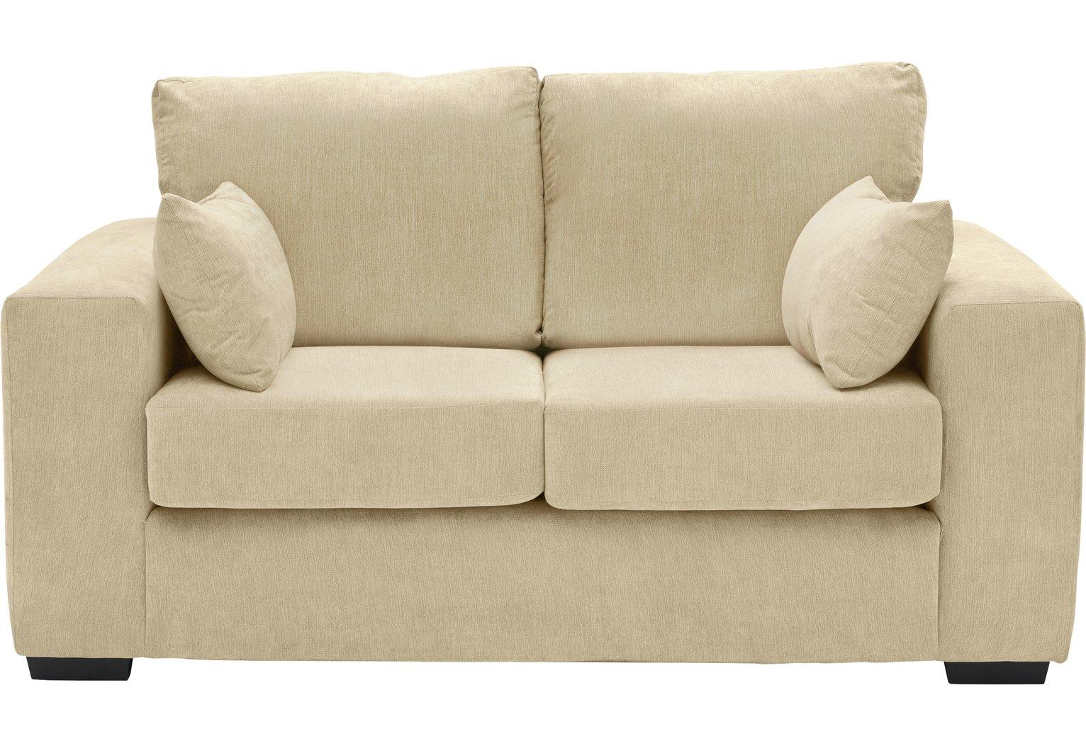 Argos Home Eton 2 Seater Fabric Sofa - Mink