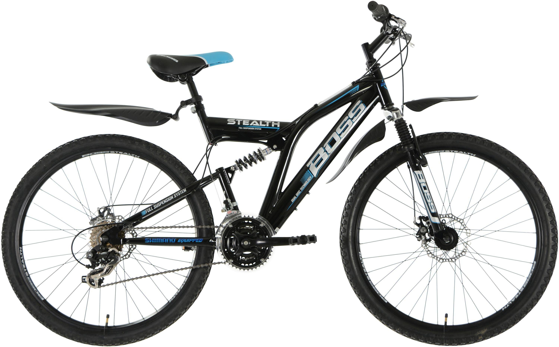 Image of Boss - Stealth - 26 Inch Steel FS Mountain Bike - Men's