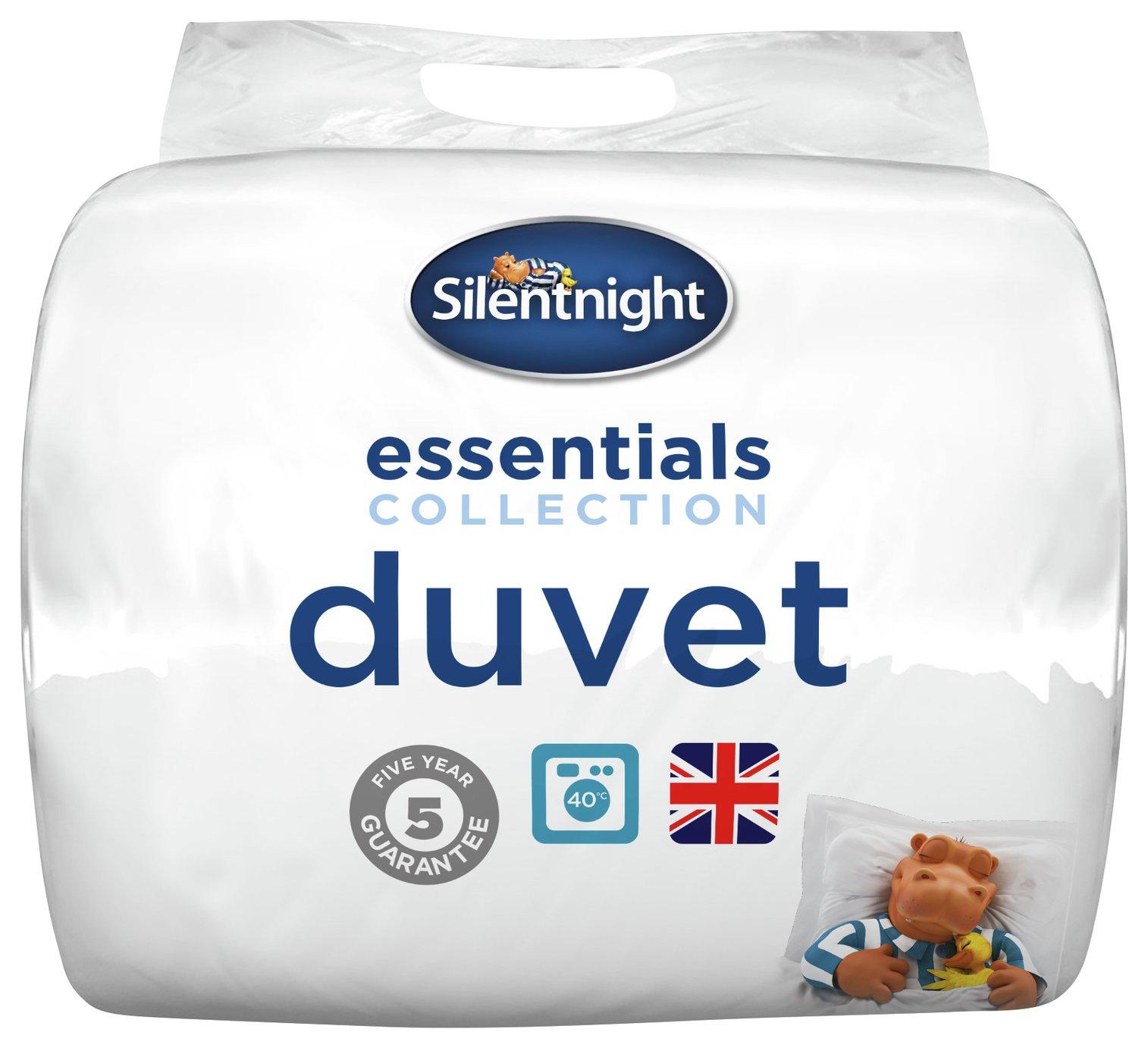 silentnight  essentials 135 tog  duvet  single
