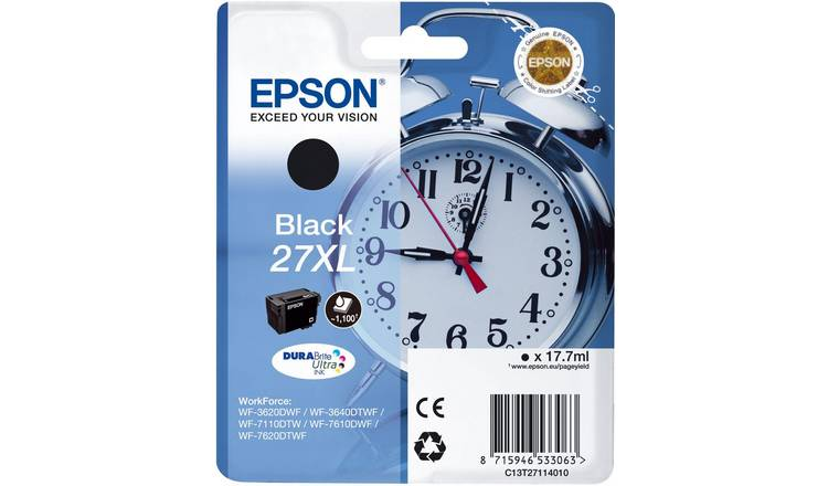 Epson 27XL Alarm Clock Ink Cartridge - Black