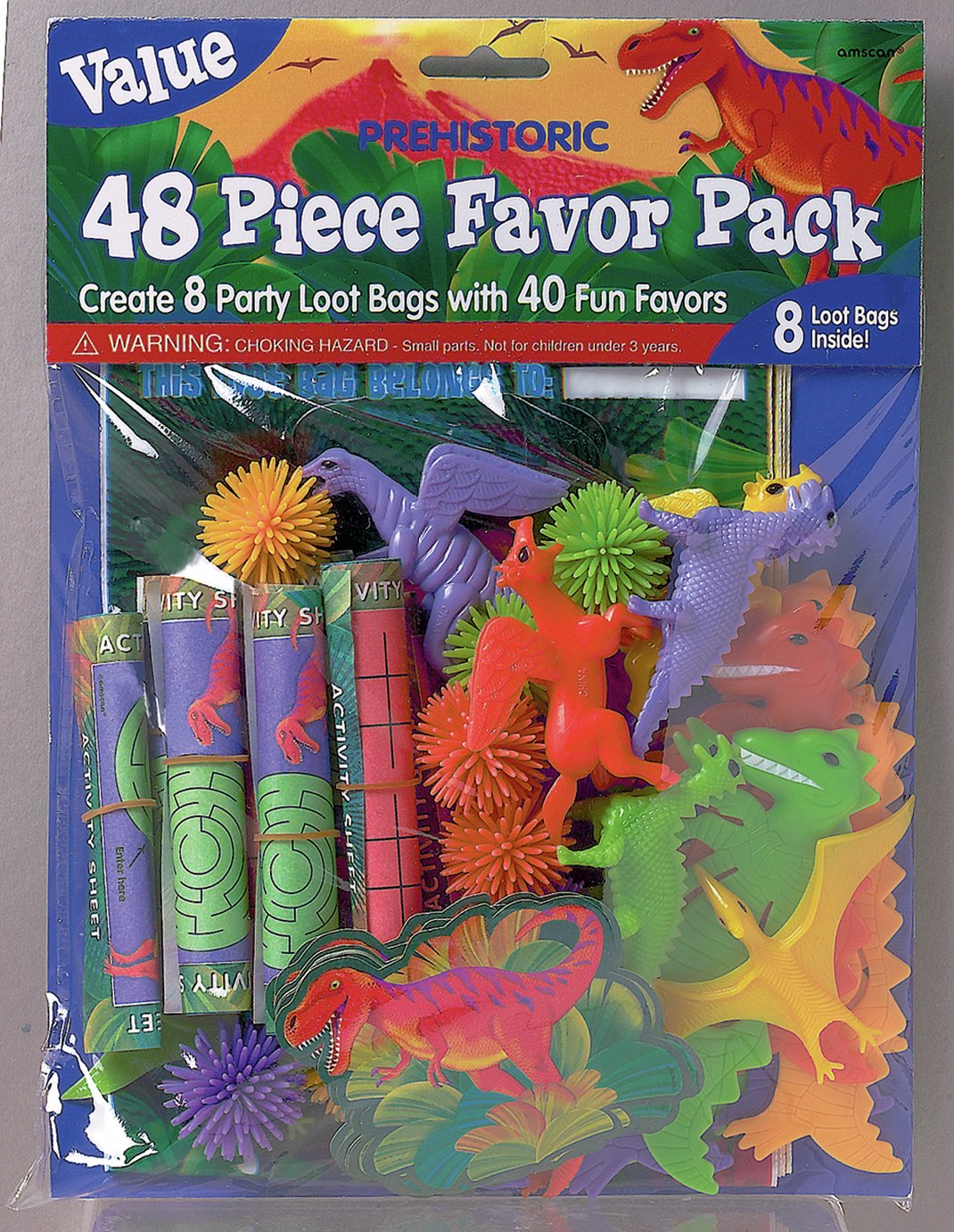 Image of Prehistoric - Themed Party Pack - 48 Pieces