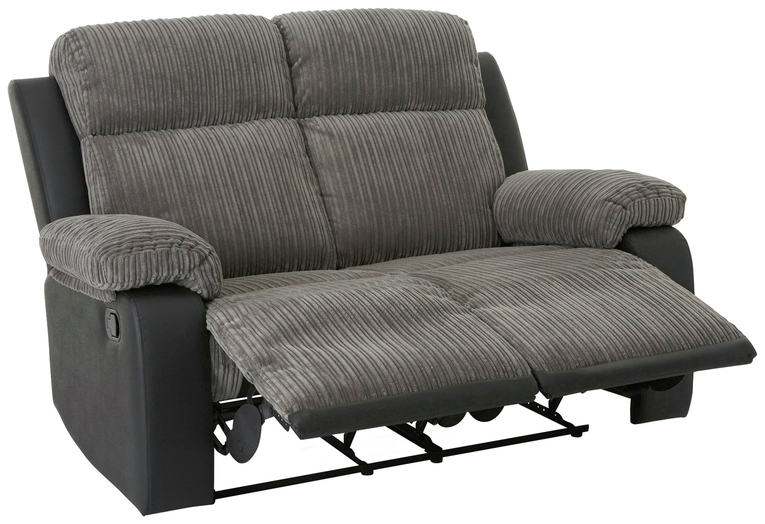 Argos Home Bradley 2 Seater Fabric Recliner Sofa - Charcoal