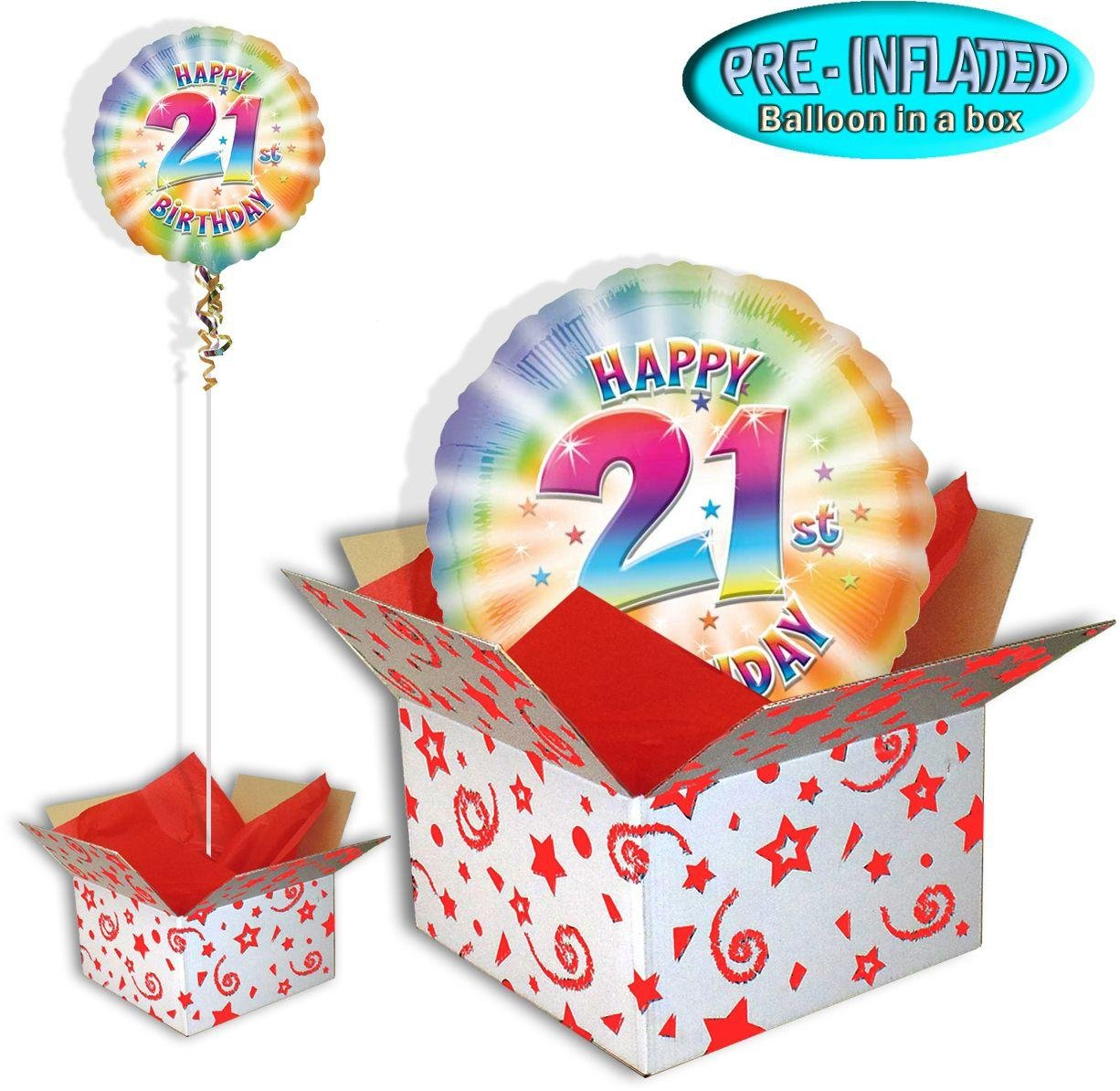 Happy 21st Birthday Balloon In A Box 2448189