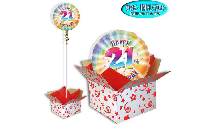 Happy 21st Birthday Balloon In A Box