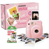 Fujifilm Instax Mini 8 Instant Camera with 10 Shots - Pink